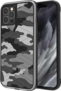 PTUONIU Compatible with iPhone 12 Pro Max Case, Heavy Duty Military Grade Protection Rugged Cell Phone Cases, Shockproof Drop Protection Cover for iPhone 12 Pro Max, Camo Grey