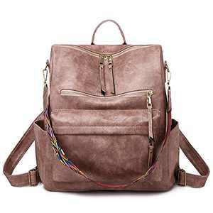 Women Backpack Purse Fashion Travel Bag Multipurpose Designer Handbag Ladies Satchel PU Leather Shoulder Bags