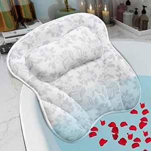 SVEUC Bath Pillow,Bathtub Pillow for Tub, 3D Air Mesh Spa Pillow with Head Neck Shoulder and Back Support,Comfortable Soft Luxury Bath Cushion with 6 Suction Cups,Fits All Bathtub,Hot Tub,Jacuzzi