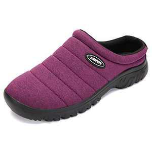 UBFEN Men's Women's Slippers Slip on Indoor Outdoor House Shoes 11 Women/9 Men Purple