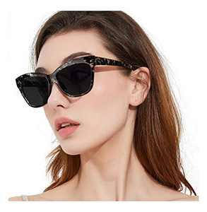 FIMILU Trendy Sunglasses Womens, Fashion Square Cat Eye Sunglasses UV400 Polarized Lens Vintage Shades