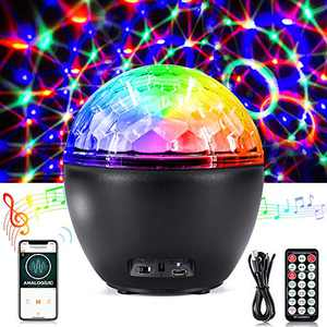 Disco Ball Light, CrazyFire Strobe Lights for Parties with Remote Control, 16 Light Modes DJ Disco Lights with Bluetooth Audio for KTV, Bar, Club, Birthday and Holiday( Built in Battery )