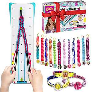 LANHYER Best Friendship Bracelet Making Kit , Craft Toys and Gifts for 5 6 7 8 9 10 11 12 13 Years Old Girls,Bracelet String and Rewarding Activity for Teens,Best Girls Gifts for Birthday, Christmas