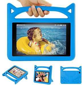 10 inch Tablet Case for Kids 2019-Auorld Shock Proof Light Weight Convertible Handle Stand Kids Friendly Case Cover for 10 in Tablet(Blue)
