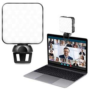 Video Conference Lighting Kit, PEZAX Webcam Lighting with Clip for Remote Working/Zoom Calls/Lighting/Live Streaming, Self-Broadcasting, Compatible with Laptop/Phone/Tablet (Width Within 0.27 Inch)
