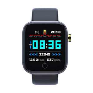 Smart Watch for Android and iOS Compatible iPhone,Fitness Tracker 1.3 in HD Screen with Heart Rate Monitor Blood Oxygen Meter Sleep Step Tracking Customize Dial IP67 Waterproof for Men Women