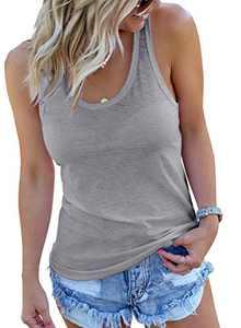 FARYSAYS Women's Basic Sleeveless Scoop Neck Casual Tank Tops