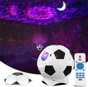 Celling Projector Night Light, Star Projector LED Galaxy Lights Nebula Wall Lamp Soccer Projector with Remote and Music Speaker for Bedroom Party Christmas Home Bar Decoration