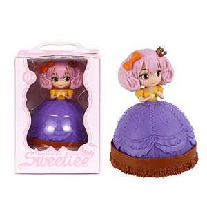 Cupcake Dolls Toys Transform from Cake to Mini Pricess Dolls 5 Inches, YULOMI Kids Girl Gift Set Doll Toy for Kids and Preschoolers,6 Years and Up(Strawberry Kelly)