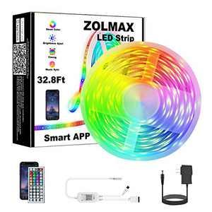 LED Strip Lights, Music Strip Lights RGB Led Light App Controlled 32.8FT 5050 LED Light Strips …