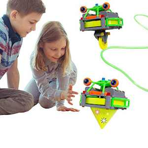 ritastar Light up Spinning Top, Anti Gravity Unicycle Tightrope Walking Robot Desktop Balance Tumbler Gyro Novel Educational DIY Toy for Decompression Entertainment Time-Consuming Kids Adults (Green)