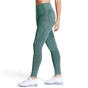 Aoxjox Women's High Waist Workout Gym Vital Seamless Leggings Yoga Pants (Dark Green Marl, Medium)