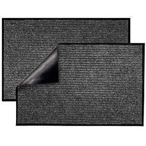 Lovinland Front Door Mat 2 Packs 35'' x 23.6'' Entrance Door Mat Outdoor Indoor Floor Door Mat Welcome Rug Entryway Mat Anti Slip Entrance Mat for Inside Outside Garage Porch High Traffic Area