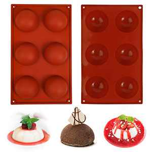 Saiveina Chocolate Mold, 6 Hole Hot Chocolate Bomb Mold, 2 Pack