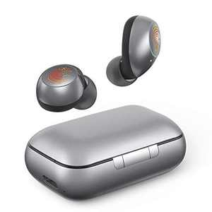 Wireless Earbuds Bluetooth Headphone 5.0,HeaTal Wireless Earphone with Charging Case Quick Charge HD Stereo Headphone with Built-in Mic,Touch Control,LED Display,USB Type-C,Single Twin Mode