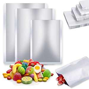 Mylar Bags for Food Storage,25 pcs Aluminum Foil Bags for Nut,Grains,Wheat,Rice,Turkey,Steak,Dry Aging Bags for Meat Long Term Food Storage(Medium)
