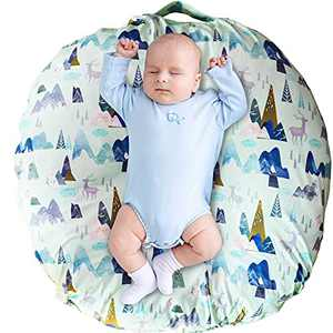 Newborn Lounger Cover, Adventure Mountain Lounger Pillow Case for Babies, Snug Fitted Removable Slipcover, Babynest Cover for Boys & Girls, Lovey Super Soft Snug Fitted, (Lounger Not Included)