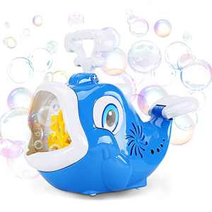 Bubble Machine, Dolphin Bubble Blower 1800+ Bubbles per Minute, Automatic Bubble Maker with Music for Kids Toddlers Boys Girls Indoor Outdoor