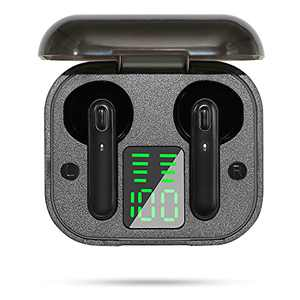 SAMMIX Wireless Earbuds Bluetooth 5.0 Headphones Immersive Stereo Sound in-Ear Headset 30H Playtime with Charging Case Built-in Mic IPX5 Waterproof Earphones for Running Gym Workout(Black)