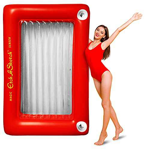 Mighty Mojo Etch A Sketch Giant Inflatable Pool Float for Kids and Adults - Inflatable Raft - Fits Two People - Over 6 Feet Tall - Officially Licensed
