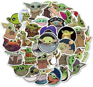Laptop Stickers of Baby_Yoda, Yoda_Baby Stickers 50 pcs Waterproof Vinyl Stickers, Graffiti Decals for Movie, Sticker for Laptops, Adult, Teen, Computers, Hydro Flasks, Water Bottles
