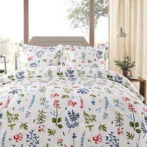 Shatex Twin Comforter All Season Comforter with Floral Print Comforter Printed Bedding Comforters
