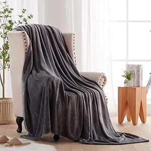 Ocness Fleece Throw Blankets King Size Velvet Throws Utra Soft Lightweight Decor for Couch, Bed, Plush Fuzzy Flannel Microfiber Warm Thermal Blanket All Seasons(Grey, 108x90)