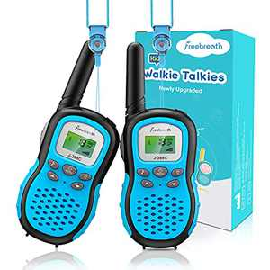 Kids Walkie Talkies, Toys for 3+ Years Children, Walkie Talkies for Kids with Backlit LCD, 3 Miles Range and 22 Secure Channels; Bright Flashlight Feature Toys for Outside, Camping, Hiking
