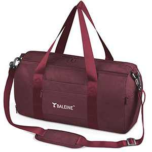 BALEINE Gym Bag for Women and Men, Small Duffel Bag for Sports, Gyms and Weekend Getaway, Waterproof Dufflebag with Shoe and Wet Clothes Compartments, Lightweight Carryon Gymbag