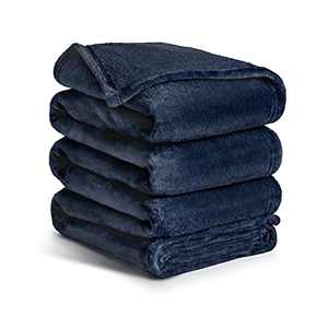 Ocness Fleece Throw Blankets Twin Size Velvet Throws Utra Soft Lightweight Decor for Couch, Bed, Plush Fuzzy Flannel Microfiber Warm Thermal Blanket All Seasons(Navy Blue, 60x80)