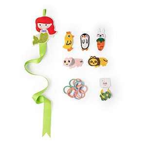 Inspired Princess Hair Set Knitted Handmade Animal Fruit Hairpins&Barrettes For Baby Girls Children (Green)