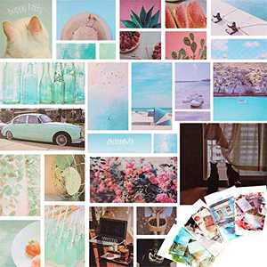 4 Packs/ 280 Pieces Washi Paper Sticker Set Scenery Daily Life Stuff Travel Vintage Stickers for Scrapbooking Journaling Planners Calendar Diary DIY Craft Album Box Packing (Fresh Style)