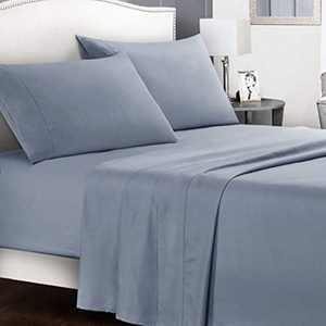 Bed Sheets Queen Set - 4 Pieces Bedding Sheets & Pillowcases Ultra Soft Breathable 16inch Deep Pocket Microfiber 1800 Thread Count - Wrinkle, Fade, Stain Resistant Washable - Queen Bed Sheet