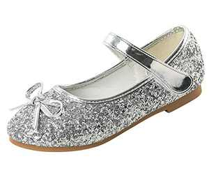 Dress Shoes for Girls Party Sparkle Flat Princess Shoes 9.5 M US Toddler
