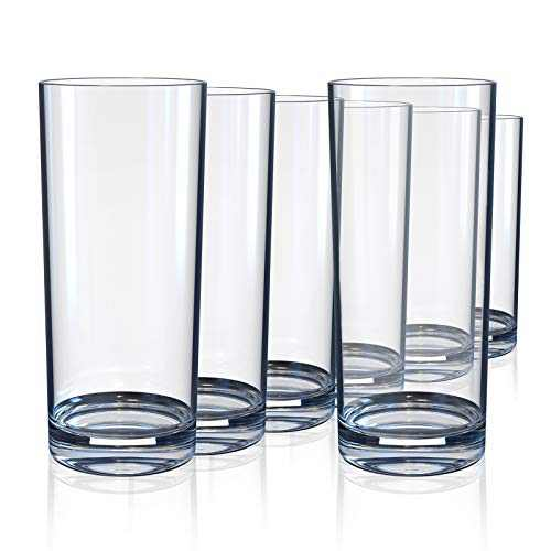 Highball Glasses Set of 6, Lead-Free Heavy Drinking Glass 10 Oz, Elegant Clear Glasses Cups for Water, Wine, Beer, Cocktails and Mixed Drinks