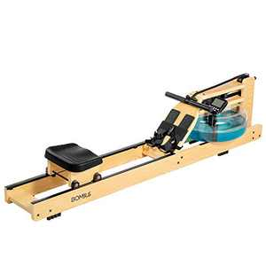 BOMBUS Water Rowing Machine for Home Use,Water Resistance Ash Wood Row Machine with LCD Monitor& Wide Seat Cushion Exercise Equipment for Men and Women Gyms Training Fitness Indoor Sports