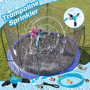 JUOIFIP Trampoline Sprinkler Outdoor Trampoline WatersWhirl Play Sprinklers for Kids Trampoline Accessories Fun Summer Backyard Water Park Sprinkler Toys Ideal for Boys Girls Family