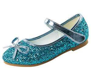 Dress Shoes for Girls Party Sparkle Flat Princess Shoes 1.5 M US Little Kid