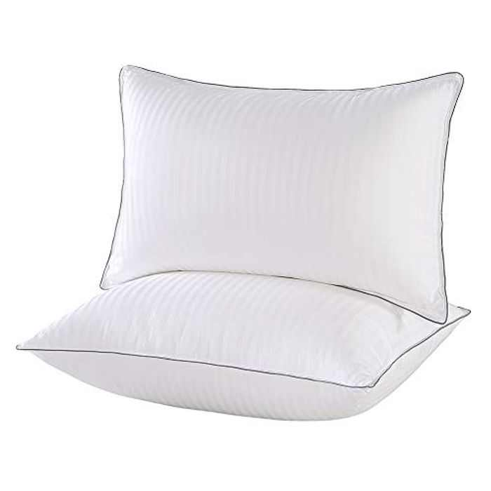 IMISSYOU Hotel Pillows Luxury 2 Pack, Bed Pillows, Plush Sleeping Pillows for Back, Stomach and Side Sleepers, Machine Washable(White, 51 x 66 cm)