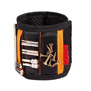 Magnetic Wristband Tool Belt The Third Helping Hand with 15 Strong Magnets for Holding Nails,Screws,Drill,Father's Day and Birthday Gift for Mechanics,Carpenter,Handyman,Electrician,Worker,Husband
