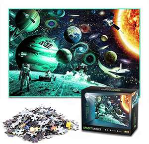 Space Puzzle,1000 Piece Jigsaw Puzzle for Adults and Kids, Educational Space Puzzle Decompressing Fun Toy for Parent-Child Game