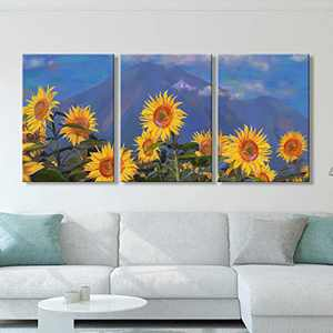 Large Flower Wall Art 3 Piece Set Decor Prints Florals Poster Framed Canvas Wall Art Decorations Home and Office Decor 20x28inch x3 Panel Canvas Wall Art for Bedroom Living Room