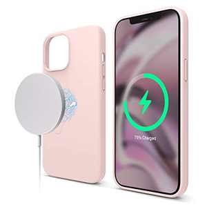 elago Magnetic Silicone Case Compatible with iPhone 12 Pro Max 6.7 Inch - Premium Liquid Silicone, Built-in Magnets, Compatible with All MagSafe Accessories (Lovely Pink)