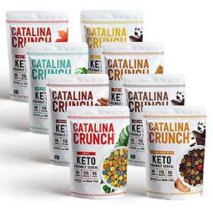 Catalina Crunch Keto Protein Cereal Variety Pack (8 Flavors)   Low Carb, Zero Sugar, Gluten Free, Grain Free, Fiber   Keto Snacks, Vegan Snacks, Protein Snacks   Keto Friendly Foods