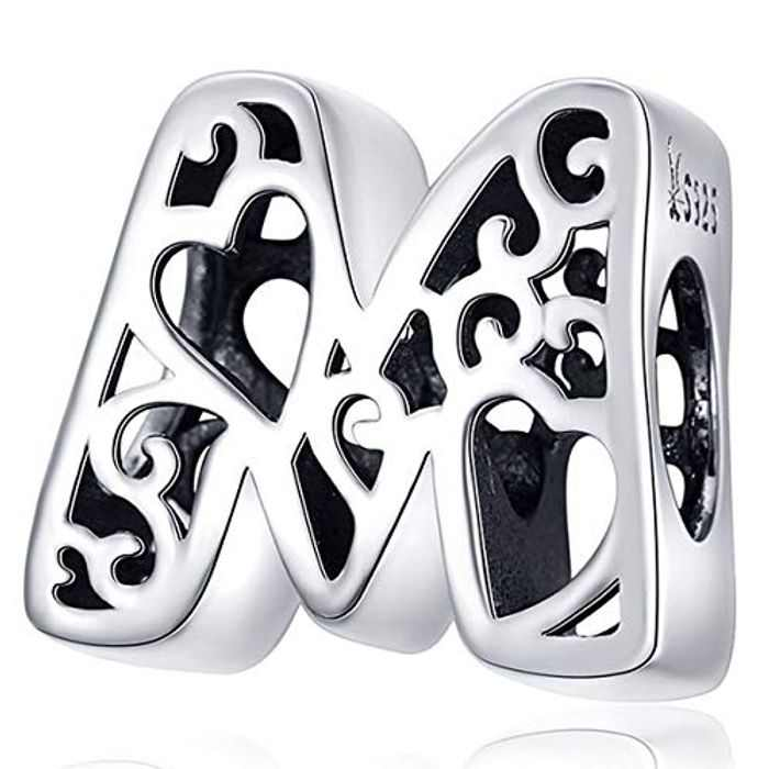 ZiFouDou Bead Charms for Pandora Bracelet or Necklace,925 Silver Charm for Chamilia Bracelet