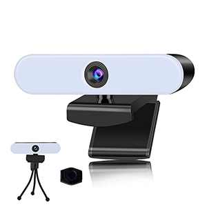 1080P HD Webcam with Light and Noise Reduction Microphones & USB Camera for Computer Video Conferencing, Teaching, Streaming and Gaming(Privacy Cover &Tripod Included)