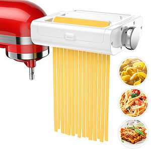 Pasta Maker Attachment for KitchenAid Stand Mixers, 3 in 1 Set Pasta Attachments includes Pasta Roller, Spaghetti &Fettuccine Cutter, Pasta Machine Attachment Accessories for KitchenAid