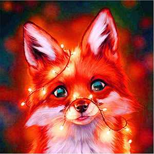 Animal Diamond Painting Kits for Adults, 5d Diamonds Art with Full Tools Accessories, Wolf Baby DIY Arts Dotz Craft for Home Décor, Ideal Gift for Family or Self Use