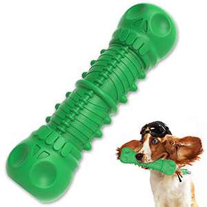 Pet Lavu Dog Chew Toys for Aggressive Chewers Large Breed Indestructible,Durable Dog Squeaky Toy ,Dogs Teeth Cleaning Chews Toys with Milk Flavor Natural Rubber