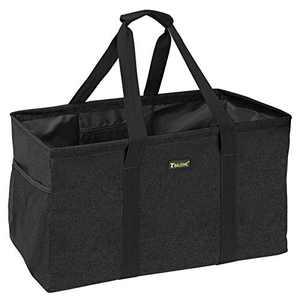 BALEINE Extra Large Utility Tote Bag for Pool Beach Laundry Storage, Black